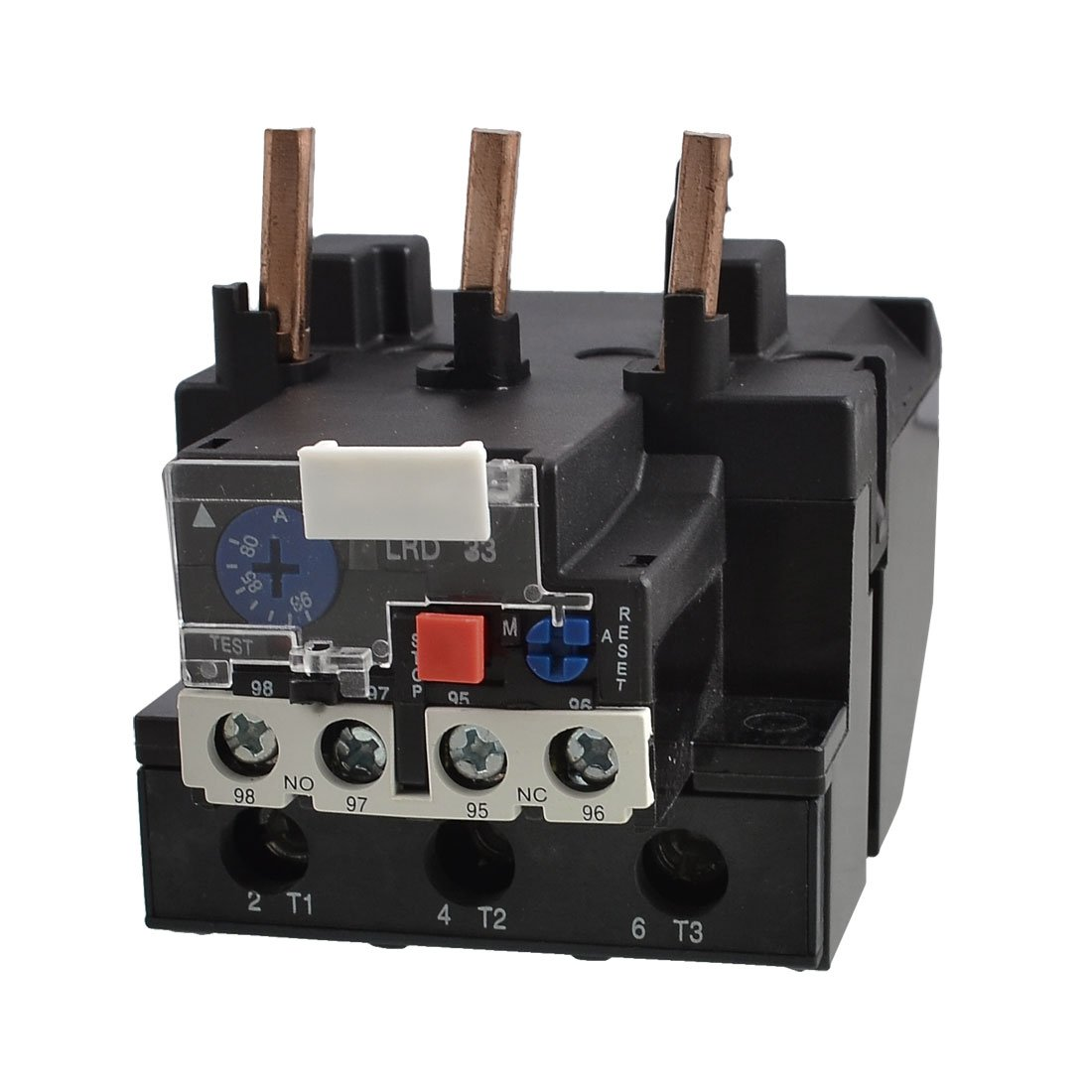 uxcell JR28-40 93A 80-93A Adjustable 3 Pole 1NO 1NC Protective Thermal Overload Relays