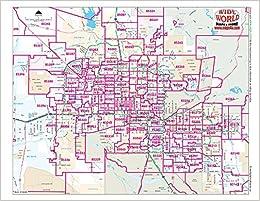 Phoenix Zip Code Map Metropolitan Phoenix Arterial Streets ZIP Code Zones Notebook Map  Phoenix Zip Code Map