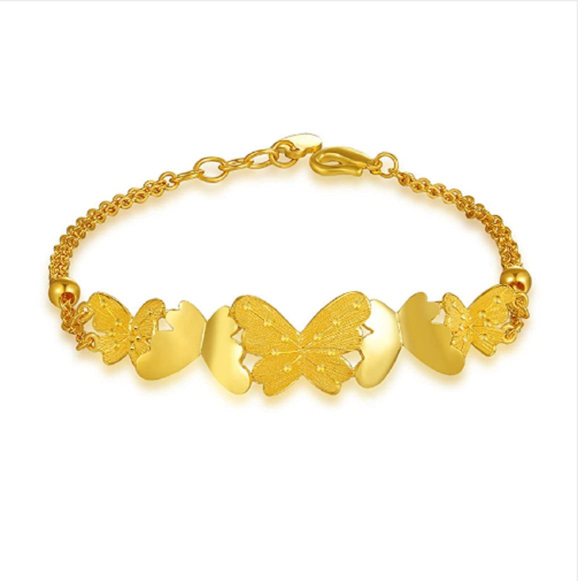 3f9458a6255 Buy GOWE 24k Pure Gold Butterfly Bracelet Woman Solid 999 Real ...