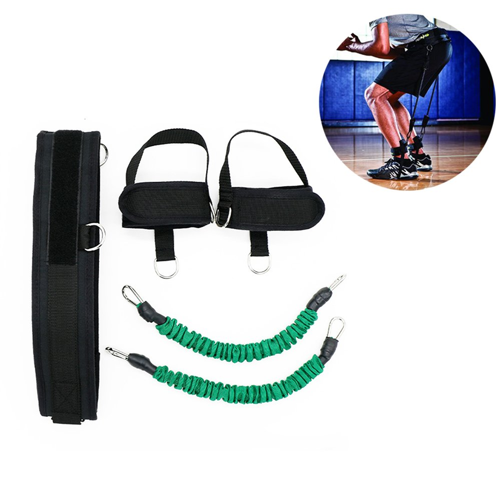 HemeraPhit Vertical Jump Trainer Set Bounce Resistance Band Agility Training Strap (Green)