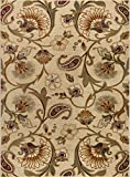 Universal Rugs 107772 Ivory 5x8 Area Rug, 5-Feet 3-Inch by 7-Feet 3-Inch