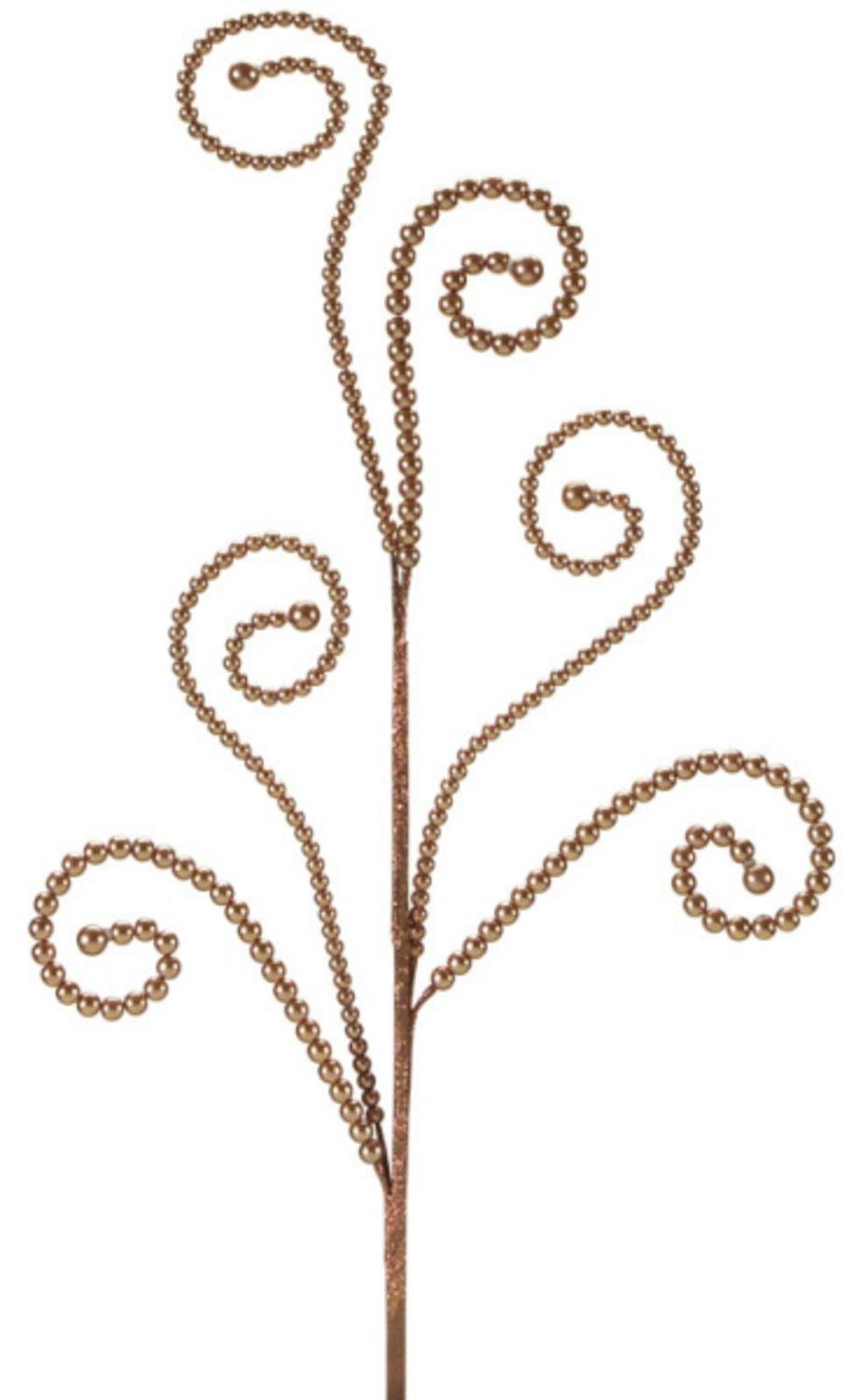 Club Pack of 12 Dazzling Brown Swirled Bead Artificial Sprays 27''