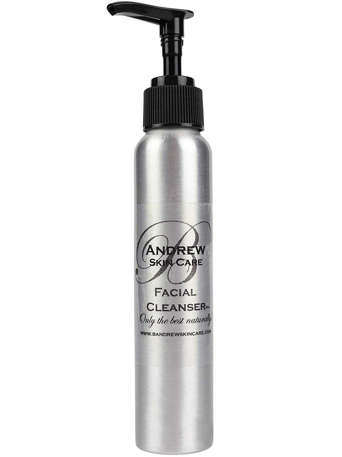 B Andrew Organic Skin Care - Facial Cleanser, Anti Aging, Exfoliating, Acne Face Wash - With Vitamin C, Rosehip Oil, Tea Tree, Grapefruit Seed, and Chamomile