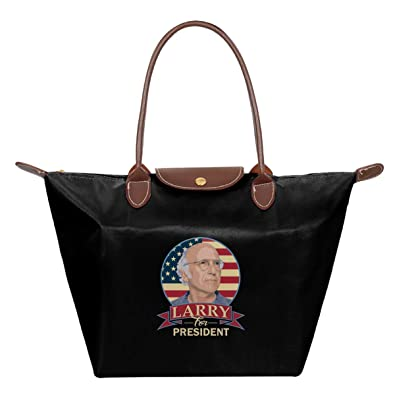 Curb Your Enthusiasm Larry David For President Waterproof Leather Folded Messenger Nylon Bag Travel Tote Hopping Folding School Handbags
