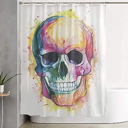 acheter rideau de douche tete de mort online 4