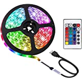 2M LED Strip Light TV Bias Backlight Kit for HDTV Desktop PC Fish Tank Decorations, Waterproof RGB Monitor Lighting with…