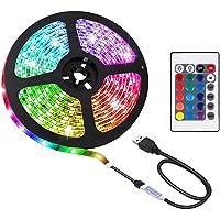 2M LED Strip Light TV Bias Backlight Kit for HDTV Desktop PC Fish Tank Decorations, Waterproof RGB Monitor Lighting with…
