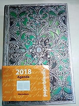 Paperblanks - Agenda Esmeralda diaria de 2018, 9 x 14 x 2,5 ...