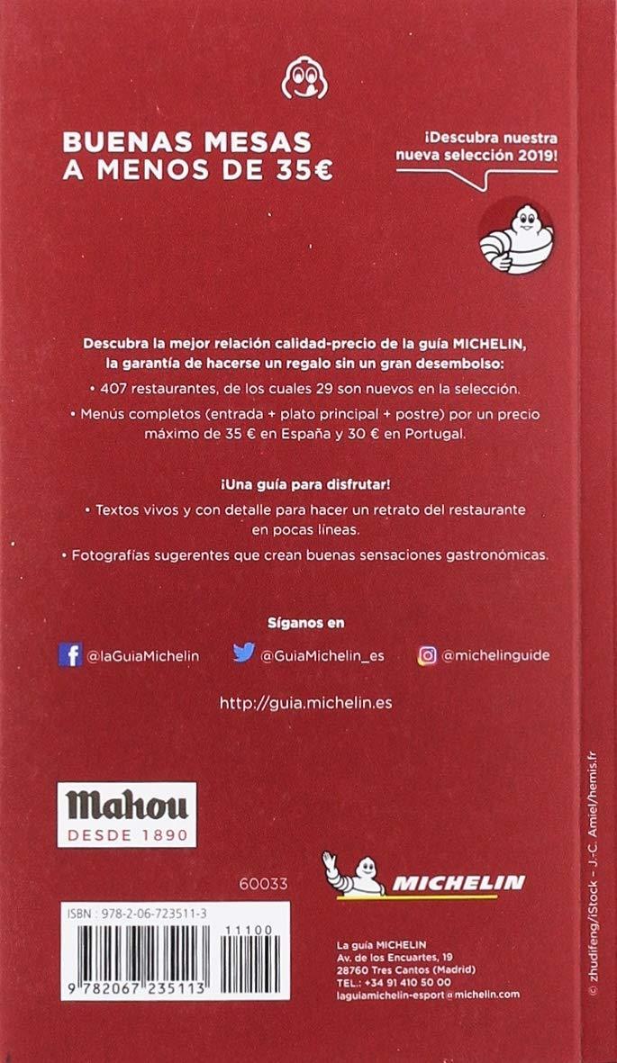 Buenas mesas a menos de 35 euros 2019 La Guía Michelin: Amazon.es: Vv.Aa.: Libros