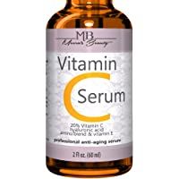 DOUBLE SIZED (2 oz) PURE VITAMIN C SERUM FOR FACE 20% With Hyaluronic Acid - Anti Wrinkle, Anti Aging, Dark Circles, Age…