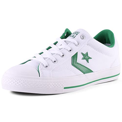 34ffcb1b836bf5 Converse CONS Star player Mens Canvas Trainers White Green - 9 UK ...