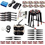 QWinOutQWinOut DIY Foldable GPS RC Racer Tarot X8 TL8X000 8-Axle Frame 350KV 40A PX4 32 Bits Flight Controller Radiolink AT9S TX with RX
