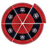Supreme Housewares NCAA Georgia Pizza Plate (Set of 6), Black/Red