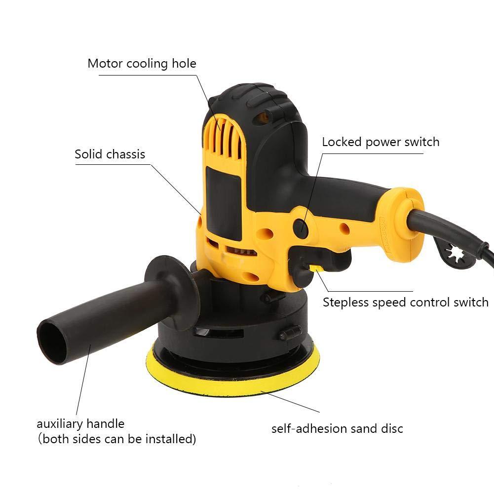 Car Polisher Gear Adjustable Multifunctional Car Polishing Waxing Machine Repair Beauty Tool 220V 700w Yellow CN Plug