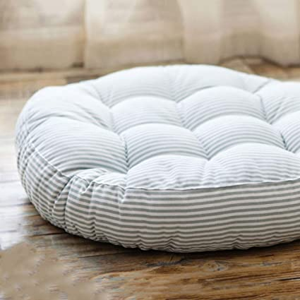 Exceptionnel Redsun Cotton Linen Round Chair Cushion,Floor Pillow Cushion Round Stuffed  Cushion,Thick Stripe
