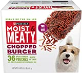 Purina Moist & Meaty Dog Food, Chopped Burger, 216...