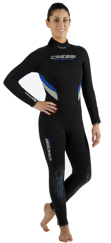 最新情報 Cressi女性用Castoro B00O1J4SP4 7mmネオプレンウェットスーツ、ブラック/グレー/ブルー/、L 4/ 4 B00O1J4SP4, 100%品質:46d4f57c --- svecha37.ru
