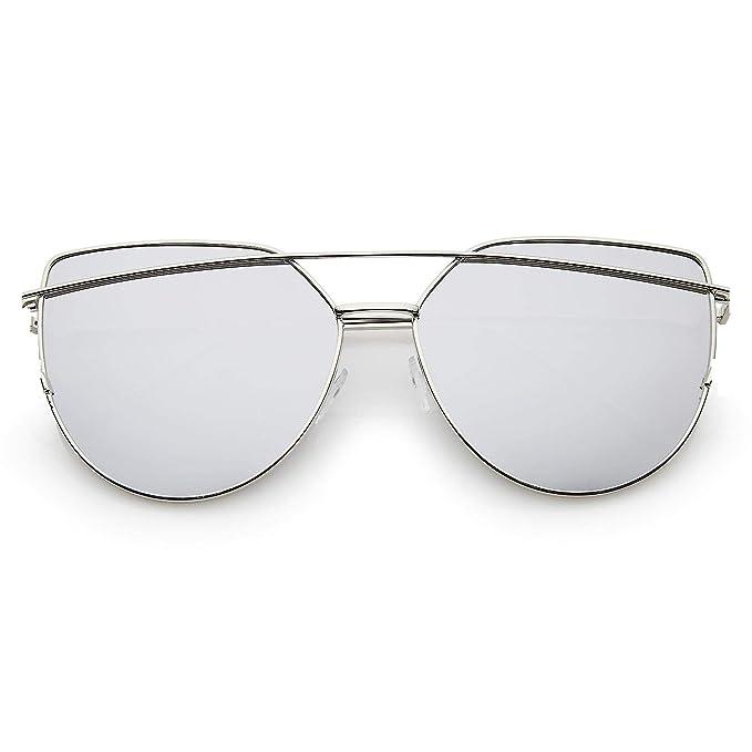 0f69120fca5 Sheomy unisex UV protected cat eye stylish silver mercury sunglasses for  men women boys and girls (drssm