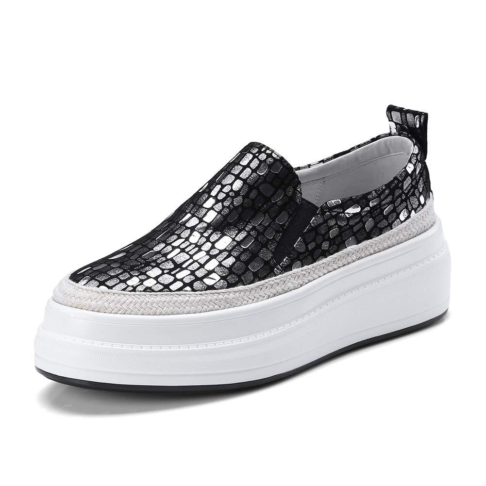 HOESCZS 2018 Echtes Leder Große Größe 34-40 Plattform Frau Schuhe Schuhe Schuhe Slip On Großhandel Heißer Vulcanize Schuhe Frauen 64bcd3