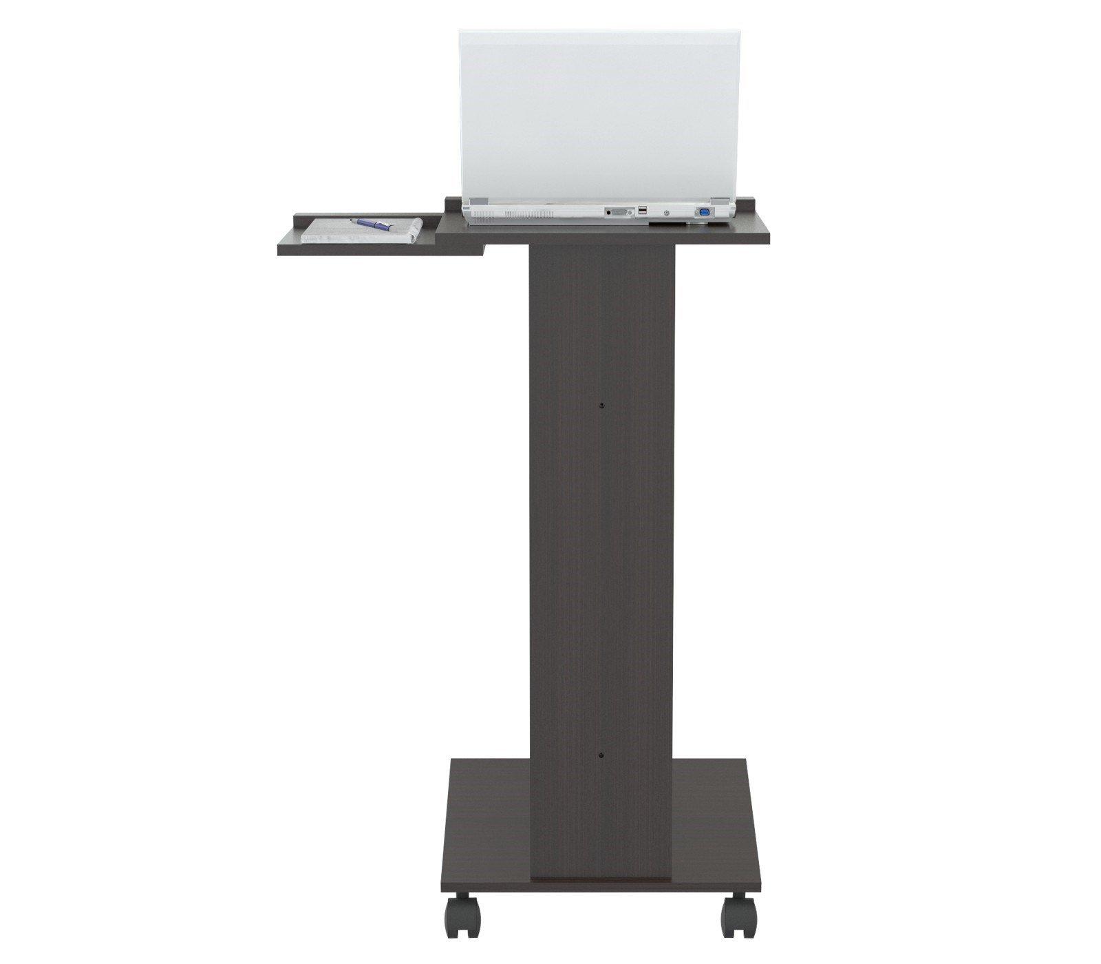 HomeRoots Office Rolling Laptop Cart - Melamine/Engineered wood