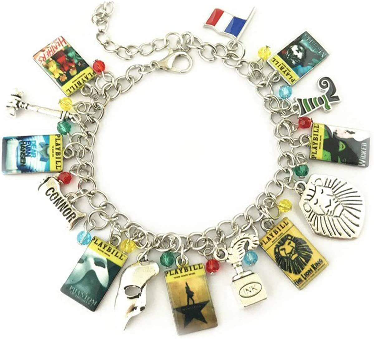 Comelyjewel Broadway Musicals Charm Bracelet Quality Cosplay Jewelry Broadway Musical Series