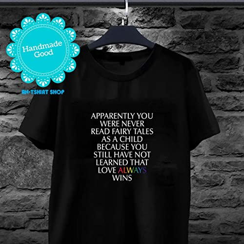 62e0a2102 Image Unavailable. Image not available for. Color: Pride Love Always Wins  LGBT National Equality March T shirts ...
