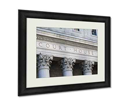 Amazon.com: Ashley Framed Prints, The Words Court House Outside The ...