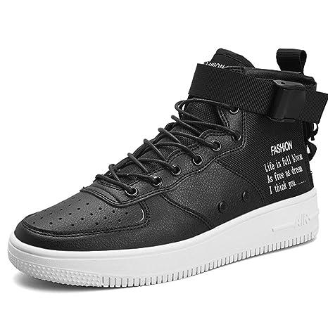 29aba9fa2c Amazon.com: Men's Shoes Sports Daily Leisure High Help Shoes Men ...