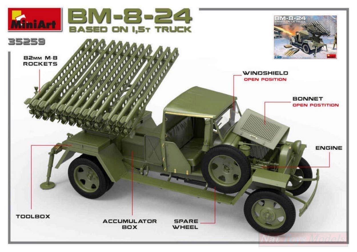 MINIART MIN35259 BM-8-24 Based on 1,5 t Truck KIT 1 35 MODELLINO Model Compatible avec