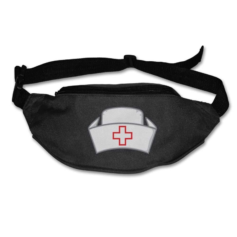 Waist Purse Nurse Cap Logo Unisex Outdoor Sports Pouch Fitness Runners Waist Bags