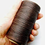 Kyпить 284yrd deep brown Leather Sewing Waxed Thread 150D 1mm Leather Hand Stitching 125g на Amazon.com