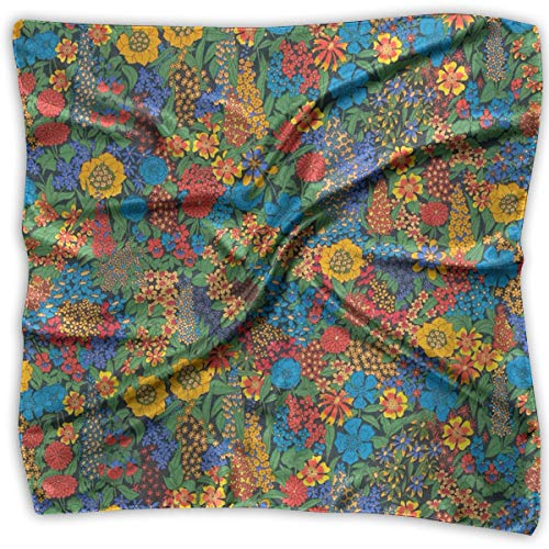 Liberty Of London Women Silk Scarves Square Satin Headscarf Neck Head Handkerchief - Silk Liberty Scarves