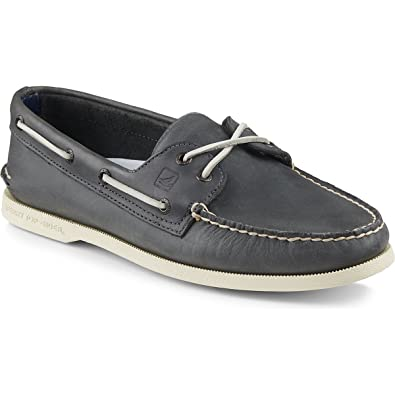 ca3e677dbd3a Sperry Top-Sider Men s Authentic Original 2-Eye Cross Lace Boat Shoes Navy  Size