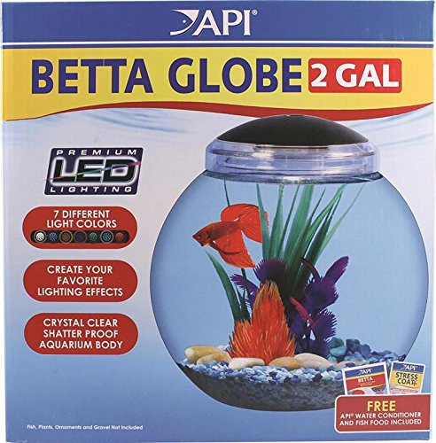 Applied Auto Betta Kit Globe Fish Tank, 2-Gallon