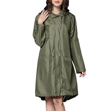 Regen Damen Lange Mantel Breathable Qianliniuinc Mode Xn0PNk8wO