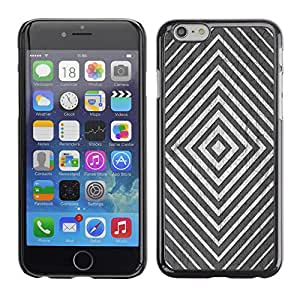 Planetar® ( Minimalist White Black Silver Lines ) Apple (5.5 inches!!!) iPhone 6+ Plus / 6S+ Plus Fundas Cover Cubre Hard Case Cover