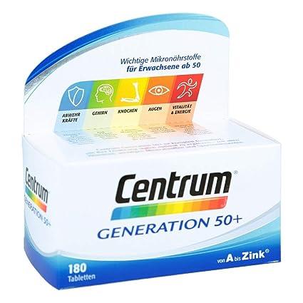 Centrum Gen. 50 + A de zinc + Flor aglo Luteína caplette 180 St