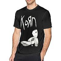 ICHANPQ Mens Classic Korn T-Shirt Black