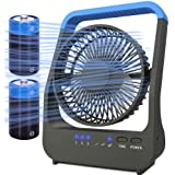 Battery Operated Fan, Camping Fan Battery Powered, Super Long Lasting, Portable D-Cell Battery Powered Desk Fan with…