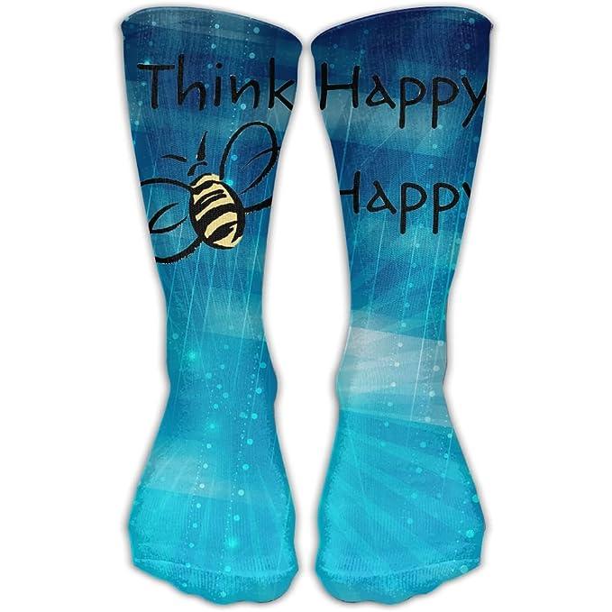 Amazon com: Design Think Bee Happy Novelty Art Boots Sock