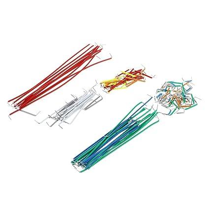 SODIAL(R) 140pcs U Shape Solderless Breadboard Jumper Cable Wire Kit ...
