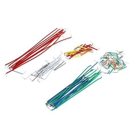 SODIAL(R) 140pcs Herradura placa sin soldadura Jumper Juego de cable de alambre para