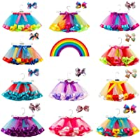EORBIW Rainbow Tutu Skirt with Headband, Toddlers Girls Layered Ballet Skirts Costume Holiday Dance Ballet Dress Up
