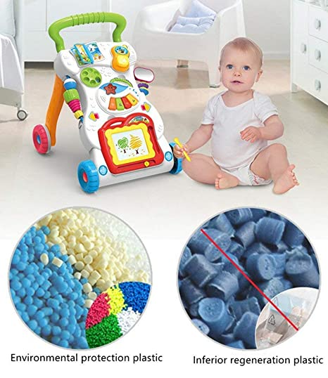 Learning Toy Intelligence Development Stand /& Walk First Steps Baby Activity Walker Haehne Sit-to-Stand Learning Walker Multiple Pattern Music Piano Sit /& Play