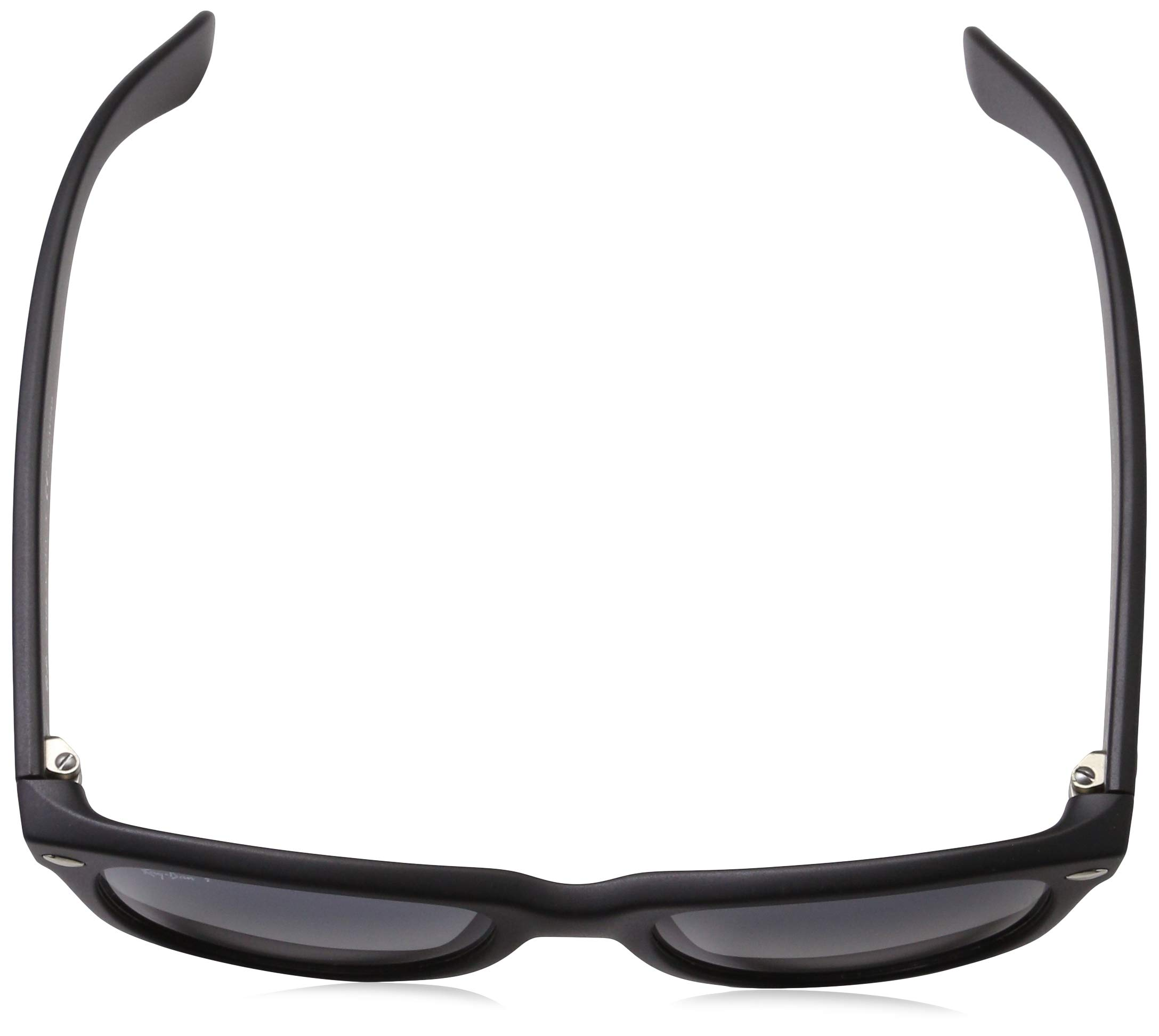 Ray-Ban Unisex New Wayfarer Polarized Sunglasses, Black/Polarized Blue/Grey Gradient, Blue Gradient Grey, 55mm by Ray-Ban (Image #4)