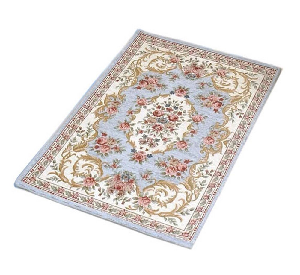 Persian Door Mat Grey Blue Paisley Mat PANDA SUPERSTORE PS-HOM404457011-EMILY02369