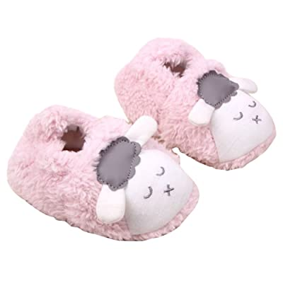 ZTL Cartoon Sheep Soft Warm Shoes Indoor House Slippers for Kids Toddlers