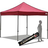 ABCCANOPY 10 x 10 FT Instant Shelter Ez Pop-up Canopy Tent Wheeled Carry Bag (29+ Colors),White