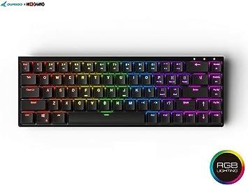 Durgod Hades 68 RGB Teclado mecánico para juegos – 65% de diseño – Perfil OEM – NKRO – USB tipo C – Chasis de aluminio