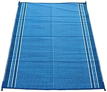 Fireside Patio (5051_5x7_Haw_Blue) Hawaiian Blue 5u0027 X 7u0027 Reversible Patio/RV